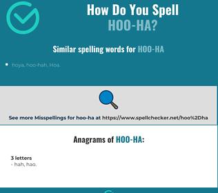 Correct spelling for hoo-ha