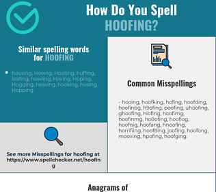 Correct spelling for hoofing