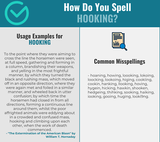Correct spelling for hooking