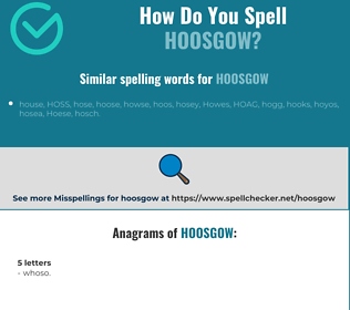 Correct spelling for hoosgow