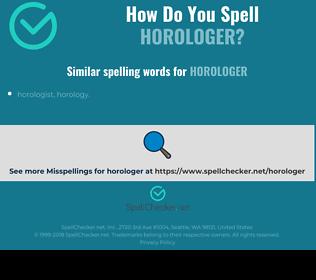 Correct spelling for horologer