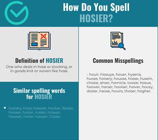 Correct spelling for hosier