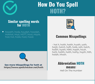 Correct spelling for hoth