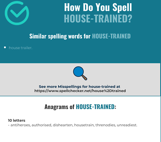 Correct spelling for house-trained