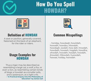 Correct spelling for howdah