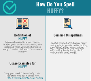 Correct spelling for huffy