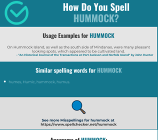 Correct spelling for hummock