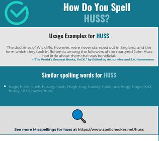 Correct spelling for huss