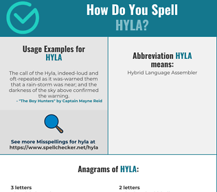 Correct spelling for hyla