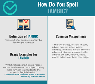 Correct spelling for iambic