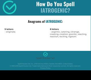 Correct spelling for iatrogenic