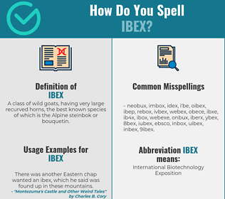 Correct spelling for ibex