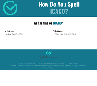 Correct spelling for icaco