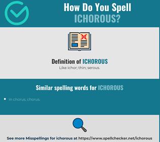 Correct spelling for ichorous