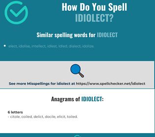 Correct spelling for idiolect