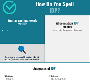 Correct spelling for idp
