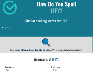 Correct spelling for iffy