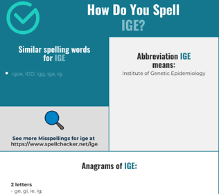 Correct spelling for ige