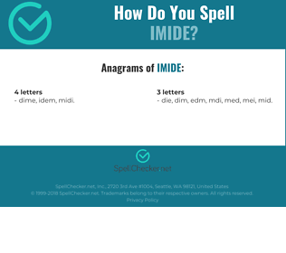 Correct spelling for imide
