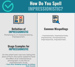 Correct spelling for impressionistic