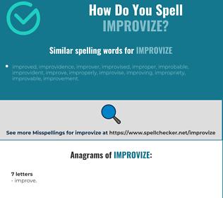Correct spelling for improvize