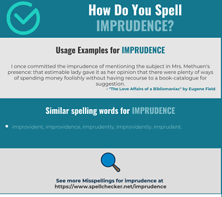Correct spelling for imprudence
