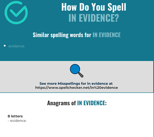 Correct spelling for in evidence