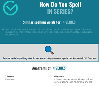 Correct spelling for in series