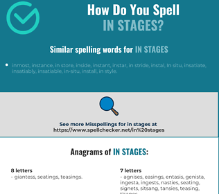 Correct spelling for in stages