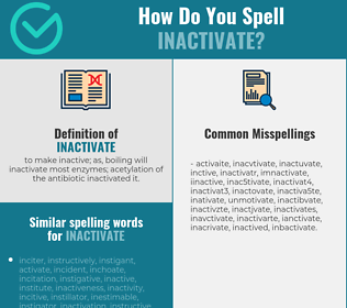 Correct spelling for inactivate