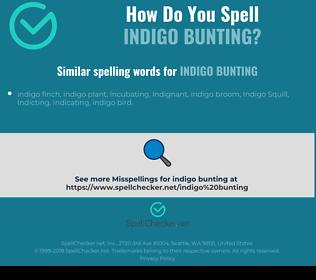 Correct spelling for indigo bunting