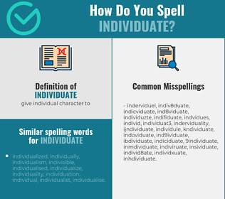Correct spelling for individuate