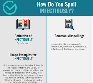 Correct spelling for infectiously