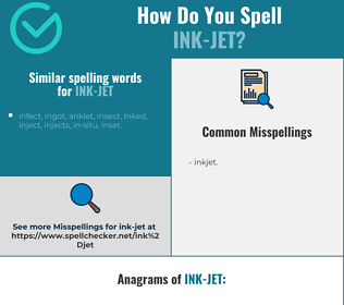 Correct spelling for ink-jet