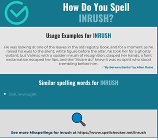 Correct spelling for inrush