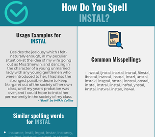 Correct spelling for instal