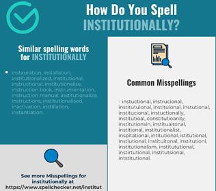 Correct spelling for institutionally
