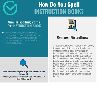 Correct spelling for instruction book