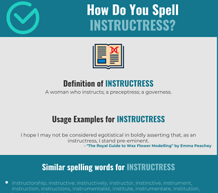 Correct spelling for instructress