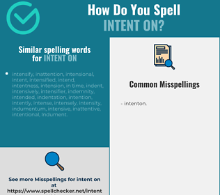 Correct spelling for intent on