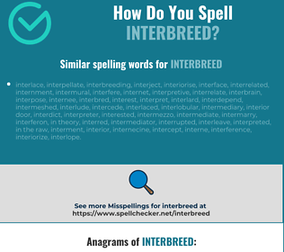 Correct spelling for interbreed