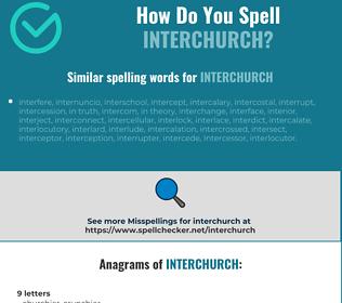 Correct spelling for interchurch