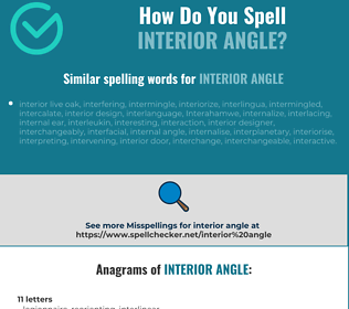 Correct spelling for interior angle