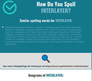 Correct spelling for interlayer