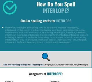 Correct spelling for interlope