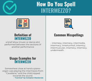 Correct spelling for intermezzo