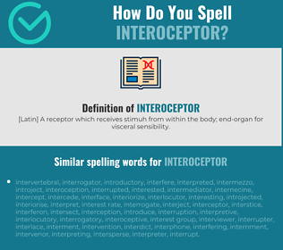 Correct spelling for interoceptor