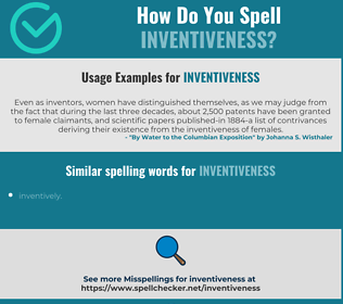 Correct spelling for inventiveness