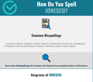 Correct spelling for ionesco