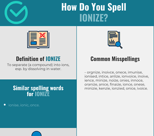 Correct spelling for ionize